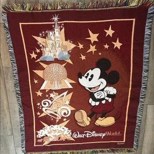 Walt Disney Micky Mouse fringed Tapestry Throw